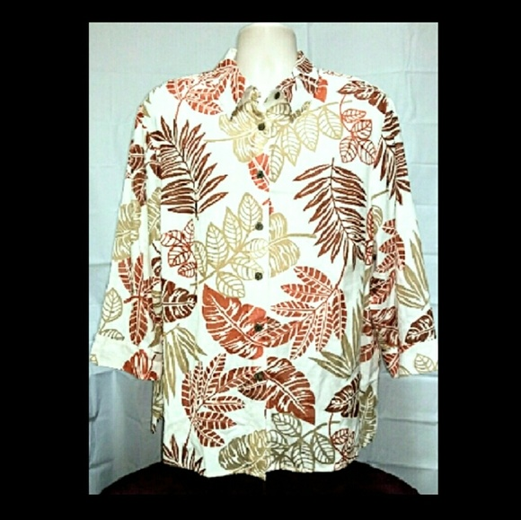 Alfred Dunner Tops - Plus-Size  Alfred Dunner Dressy Hawaiian Top